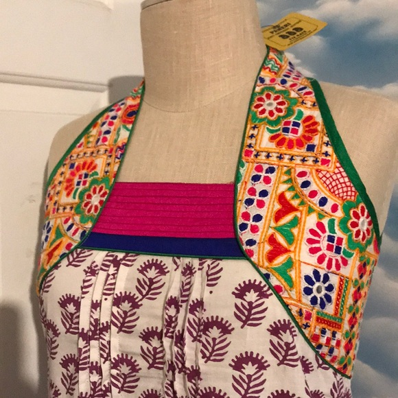 Paneri Dresses Nwt Xs Embroidery Boutique Boho India Dress Poshmark